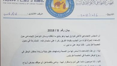 Photo of Touareg Supreme Council denies intention of a southern force to storm Tripoli