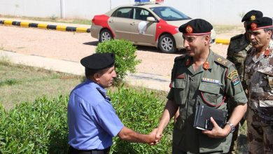 Photo of Major General Mohamed al-Haddad on working visit to Sirte
