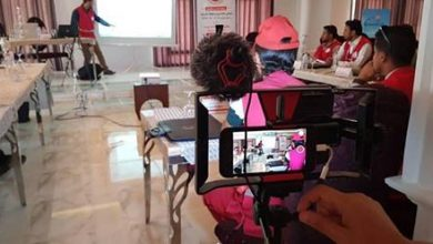 Photo of Libyan Red Crescent: Training on mobile journalism and news writing
