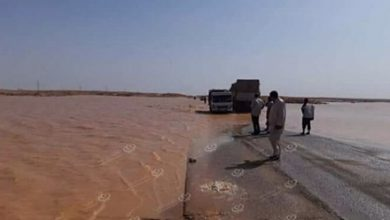 Photo of Stagnant water on the road in Shu'airf