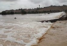 Photo of Heavy rains lead to the floods in some valleys in Bani Walid