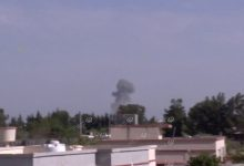 Photo of Air strikes on Airport Road area south of Tripoli