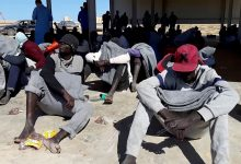 Photo of 203 irregular migrants rescued off the shores of the city of Al-Khums