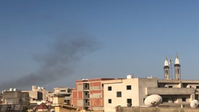 Photo of A column of smoke rose after an explosion broke out south of Tripoli
