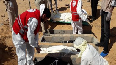 Photo of 11 unidentified bodies buried in Sabha