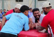 Photo of Arm wrestling competition in Tobruk