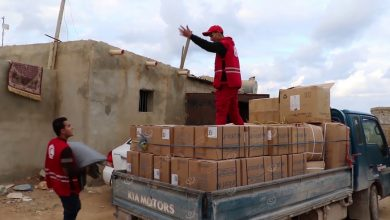 Photo of Libyan Red Crescent distributes aid to rain-affected families in Tobruk