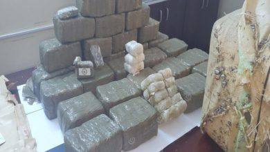 Photo of 35 kg of hashish found in Sabratha