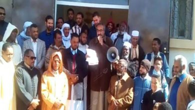 Photo of Protest in Sabha against the participation of Libyan Jews in the dialogue