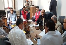 Photo of A meeting in Ajdabiya to discuss fighting the Covid-19 disease