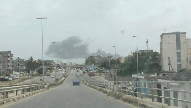 Photo of Shells fell near Mitiga Airport in Tripoli