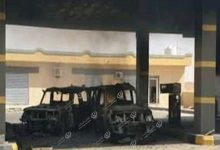 Photo of A fighter aircraft attacked three military vehicles in Nasmah town