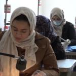 Photo of Women in Benghazi make homemade face masks