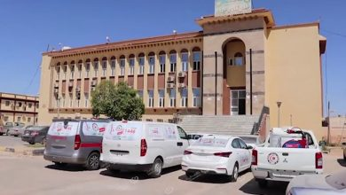 Photo of Bani Walid city receives four cars to combat COVID-19