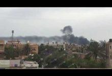 Photo of Shells hit Mietiga International Airport in Tripoli