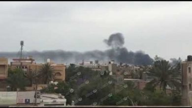 Photo of Shells hit Mietiga International Airport in Tripoli