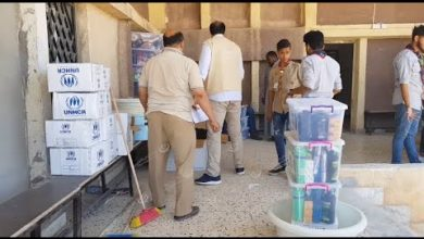 Photo of Relief supplies distributed to the displaced people in Ajdabiya