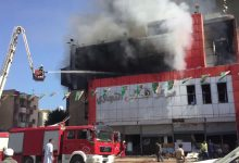 Photo of A fire breaks out at shopping center in Tripoli