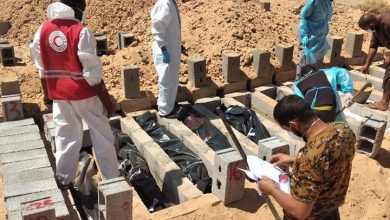 Photo of 28 unidentified bodies buried in Sabha