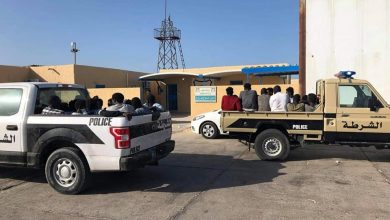 Photo of 24 irregular immigrants saved off Abu Kamash