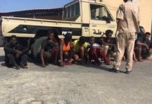 Photo of 13 irregular immigrants arrested in Zuwara