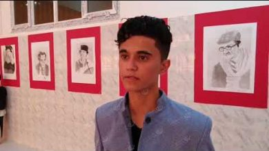 Photo of A portrait exhibition held in Bani Walid city
