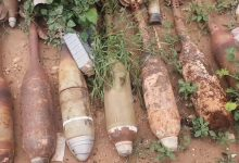 Photo of Unexploded ordnance removed from Bani Walid