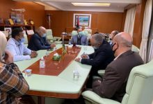 Photo of A meeting held to discuss the development of Zintan airport