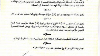 Photo of Libya Television and Radio Network established
