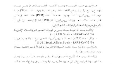 Photo of South African variant of Coronavirus discovered in Libya