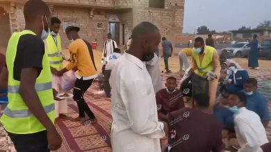 Photo of Ramadan breakfast meal for migrant workers in Al-Gharifa